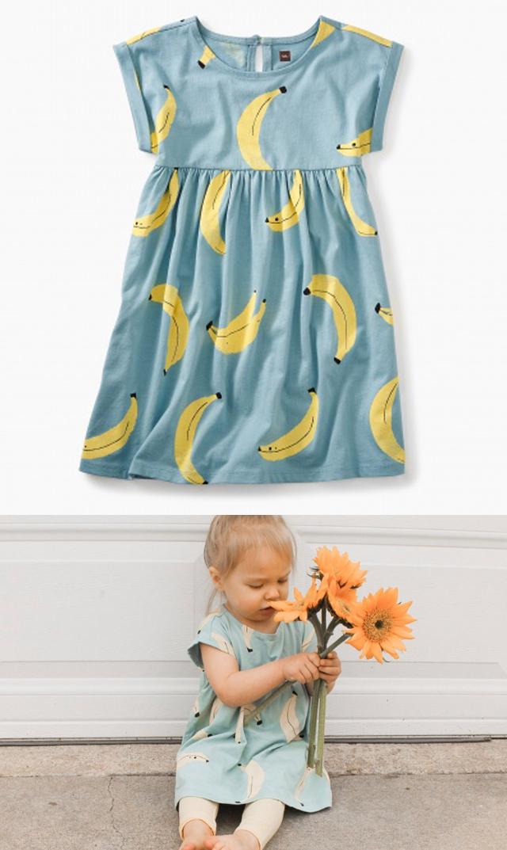 【ティー(TEA)】エンパイアドレス(バナナ)/2歳-5歳