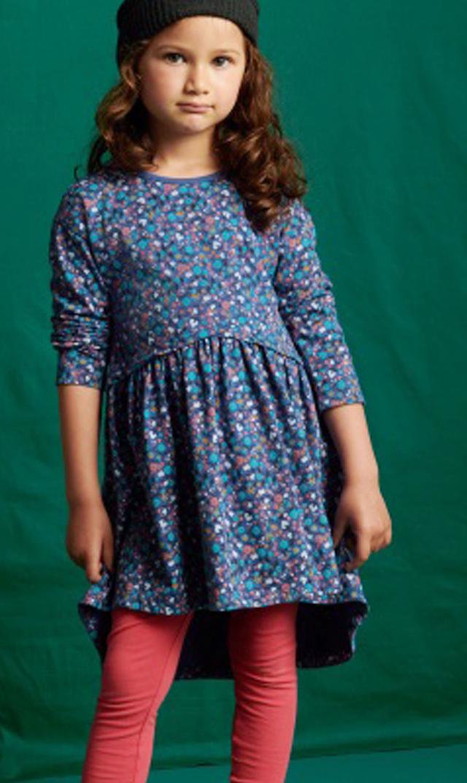 【ティー(TEA)】フィッシュテールフローラルドレス(ブルー)/3歳-7歳
