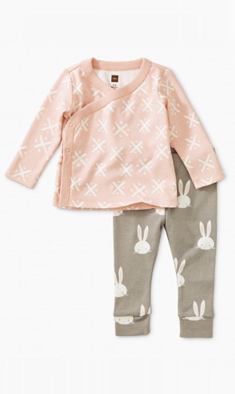【ティー(TEA)】ベビーウエアセット(ウサギ)/3ヶ月-9ヶ月
