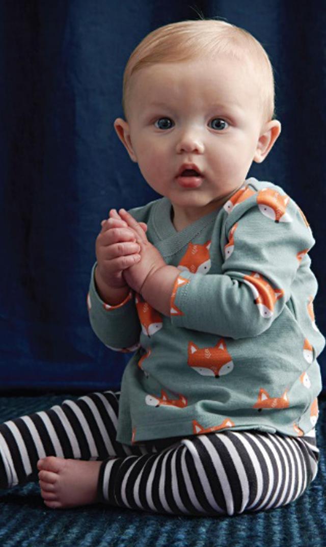 【ティー(TEA)】ベビーウエアセット(キツネ)/3ヶ月-9ヶ月