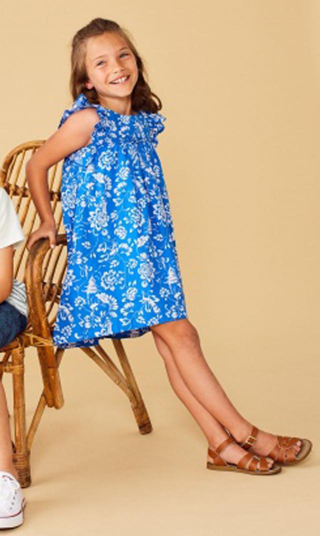 【ティー(TEA)】ハイロードレス(ブルー×ホワイト)/2歳