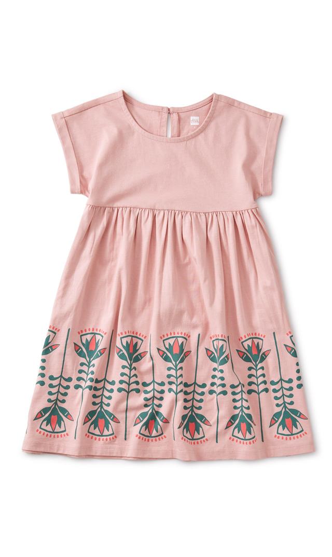 【ティー】ロータスドレス(ピンク)/3歳-5歳