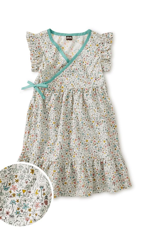 【ティー】ラップドレス(フローラル)/3歳-5歳