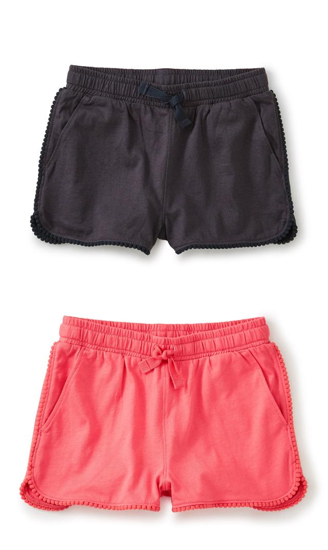 【ティー】ポンポントリムショートパンツ(2色)/2歳-6歳
