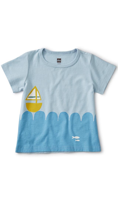 【ティー】セールボートTシャツ(ブルー)/2歳-4歳