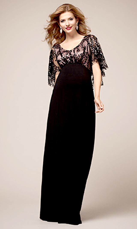 【ティファニーローズ(TiffanyRose)】ヴィンテージケープガウンロングドレス(ブラック)