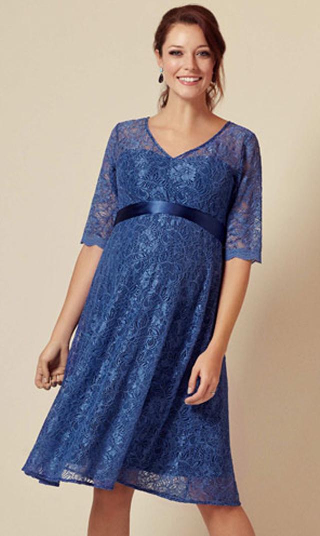 【ティファニーローズ(TiffanyRose)】クレメンスドレス(スティールブルー)