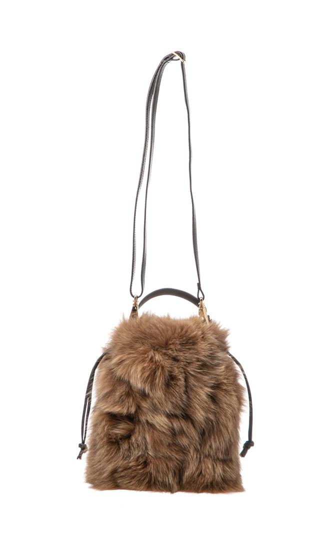 【ヴィオラドーロ】フォックスファー巾着バッグ