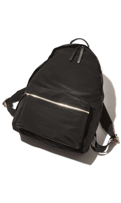 【ヴィオラドーロ】コットンナイロン×牛革ジーノバックパック(ブラック)