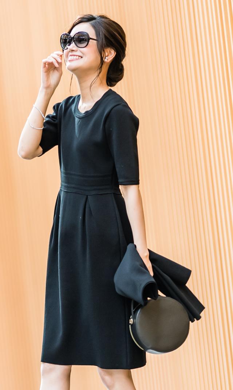【ヴィリーナ(VIRINA)】VERYコラボ/エミリーニットドレス(ブラック)