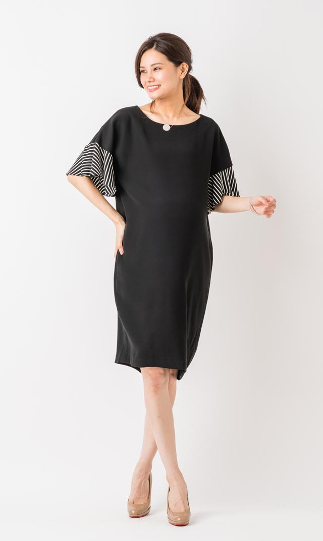 【ヴィリーナ(VIRINA)】ソフィアナーシングドレス(ブラック)