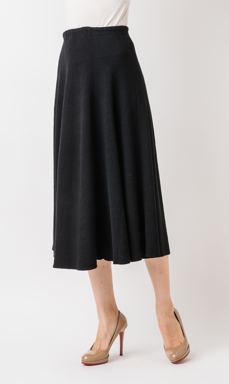 【ヴィリーナ(VIRINA)】カタリーナミモレスカート(ブラック)