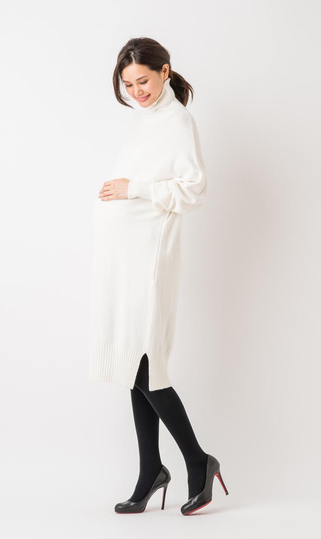 【ヴィリーナ(VIRINA)】ブレンダナーシングニットドレス(ホワイト)