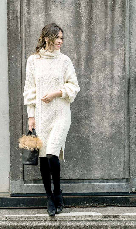 【ヴィリーナ(VIRINA)】ケイティナーシングニットドレス(ホワイト)