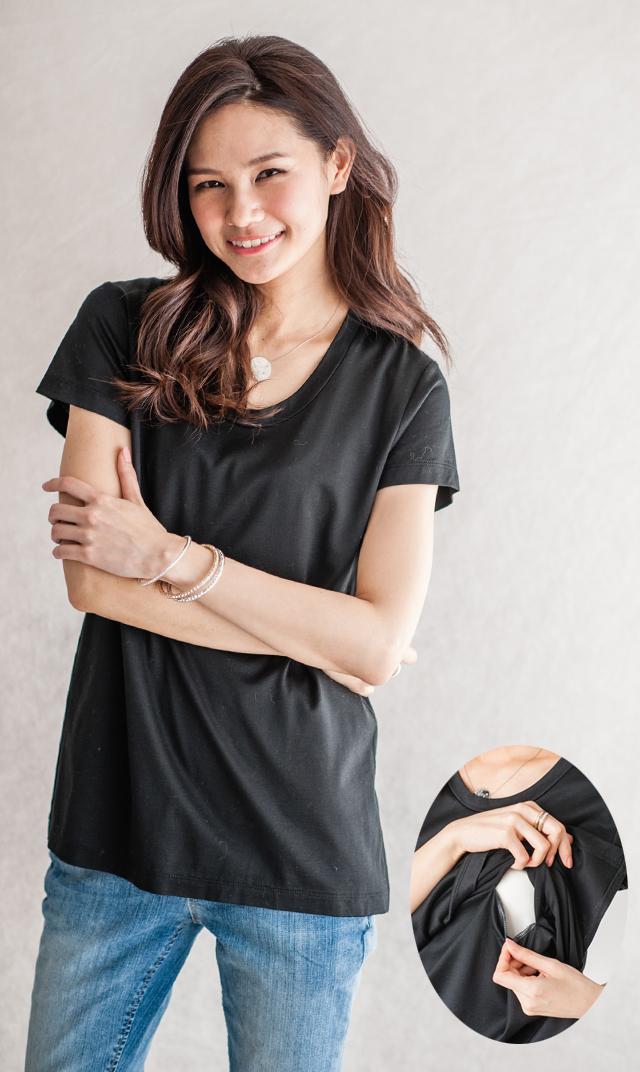 <おまとめCP対象>【ヴィリーナ】ベーシックナーシングTシャツ(ブラック)