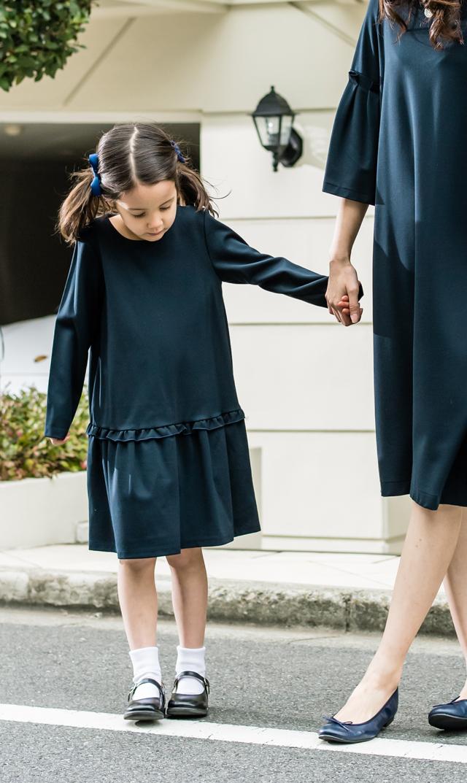 【ヴィリーナ(VIRINA)】リリィキッズドレス(ネイビー)/90cm~120cm