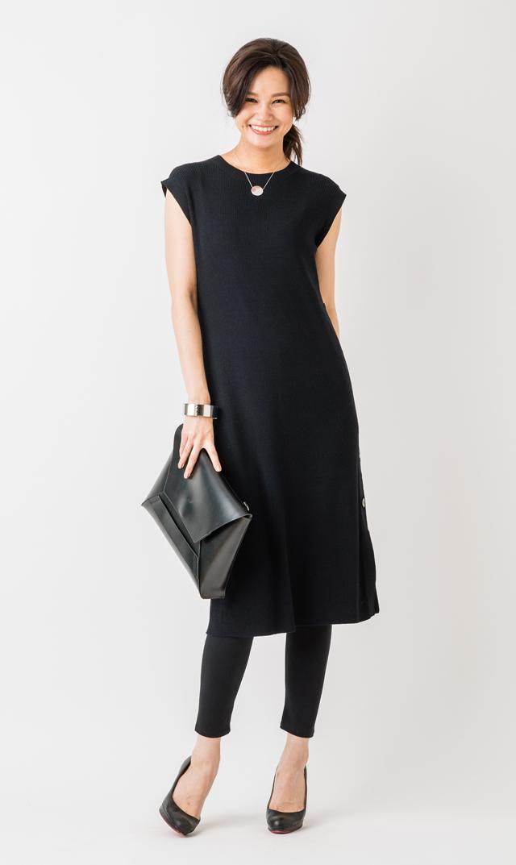 【ヴィリーナ(VIRINA)】ララナーシングニットドレス(ブラック) ※4月再入荷予定