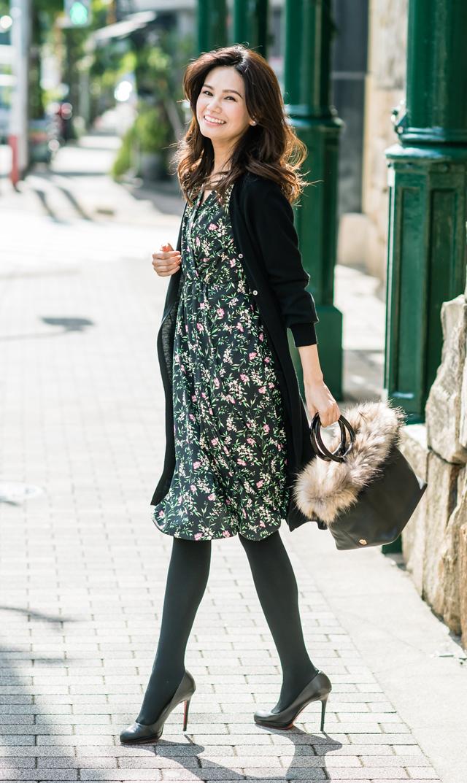 【ヴィリーナ(VIRINA)】ジャスミンナーシングドレス(ブラックガーデン)