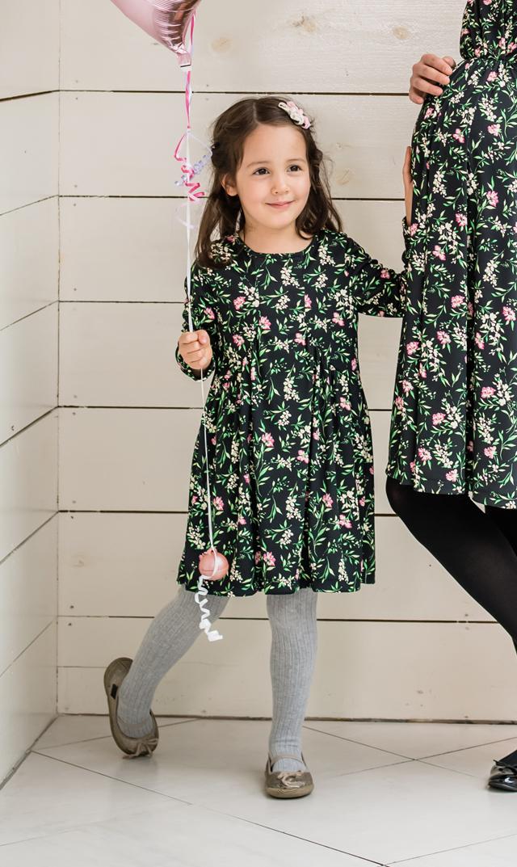【ヴィリーナ(VIRINA)】アイリスキッズドレス(ブラックガーデン)90-120cm