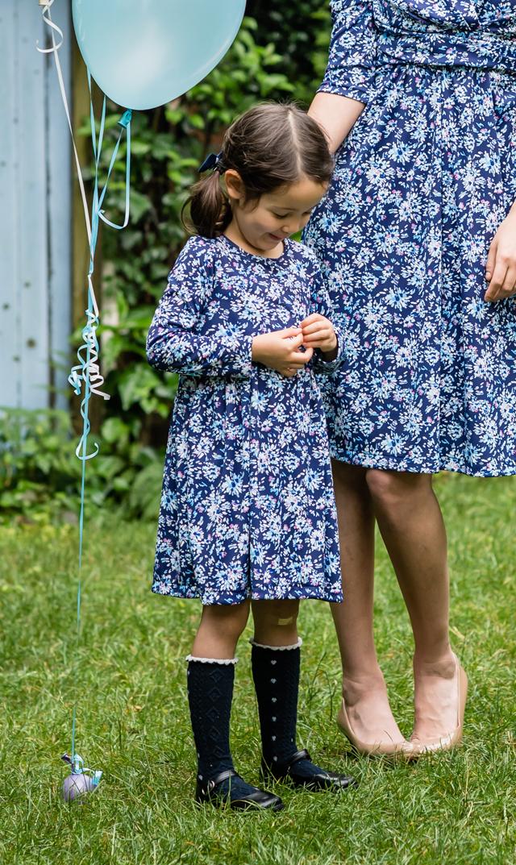 【ヴィリーナ(VIRINA)】アイリスキッズドレス(ペインティングフラワー)90-120cm