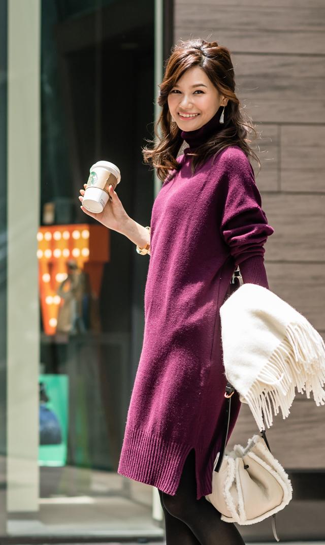【ヴィリーナ(VIRINA)】ブレンダナーシングニットドレス(ボルドー)※XS/Sサイズ11月中旬入荷予定