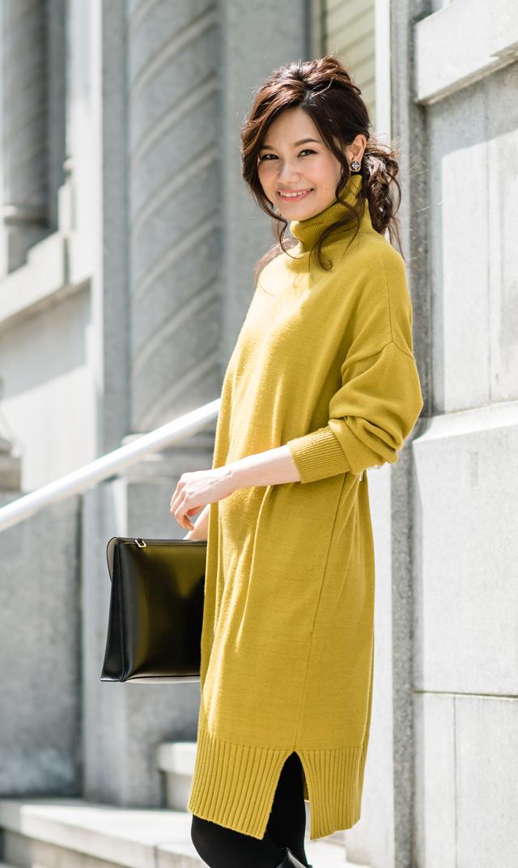 【ヴィリーナ(VIRINA)】ブレンダナーシングニットドレス(ミモザ)
