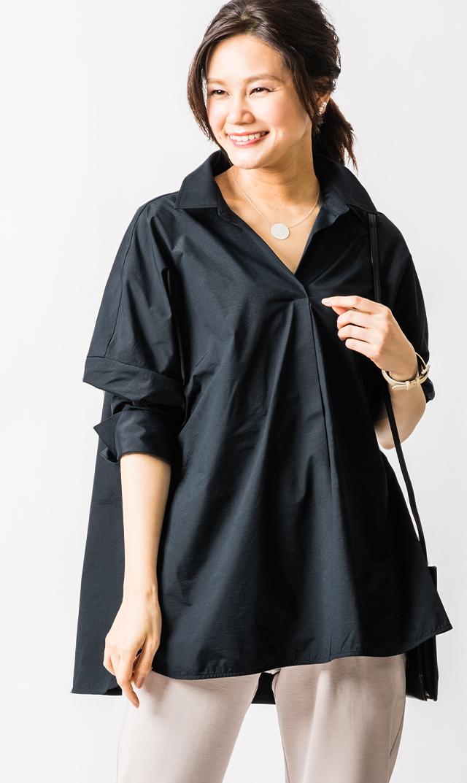 【ヴィリーナ】ステラシャツ(ブラック)