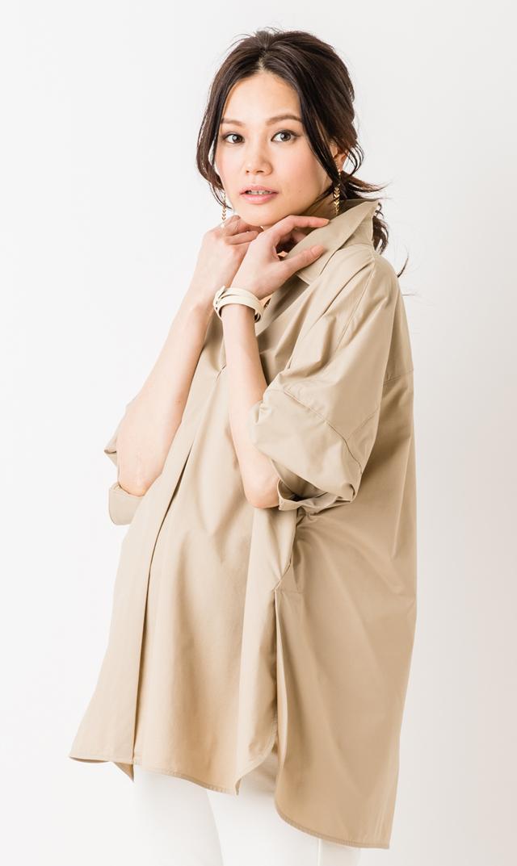 【ヴィリーナ(VIRINA)】ステラシャツ(ベージュ)
