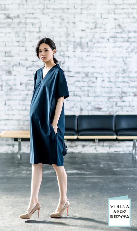 【ヴィリーナ(VIRINA)】ゾーイナーシングドレス(ネイビー)