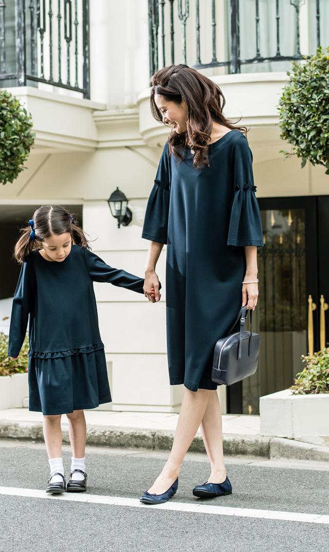 【ヴィリーナ(VIRINA)】レイチェルナーシングドレス(ネイビー)/※子供服あり