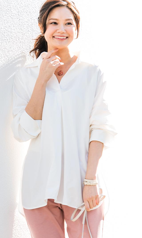 【ヴィリーナ】ステラシャツ(ホワイト)[VERY WEB掲載]