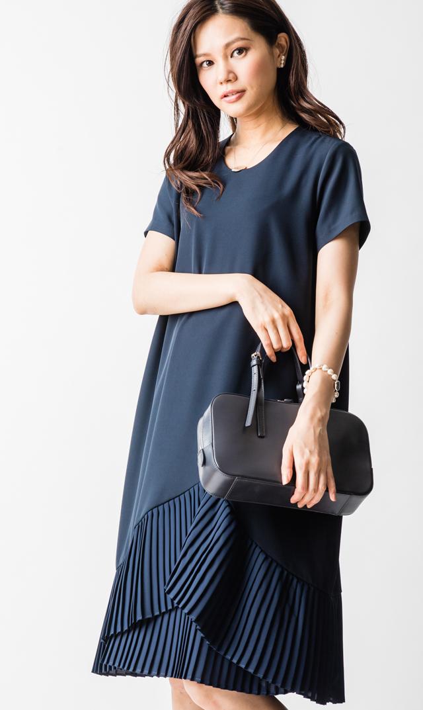 【ヴィリーナ】ミリーナーシングドレス(ネイビー)