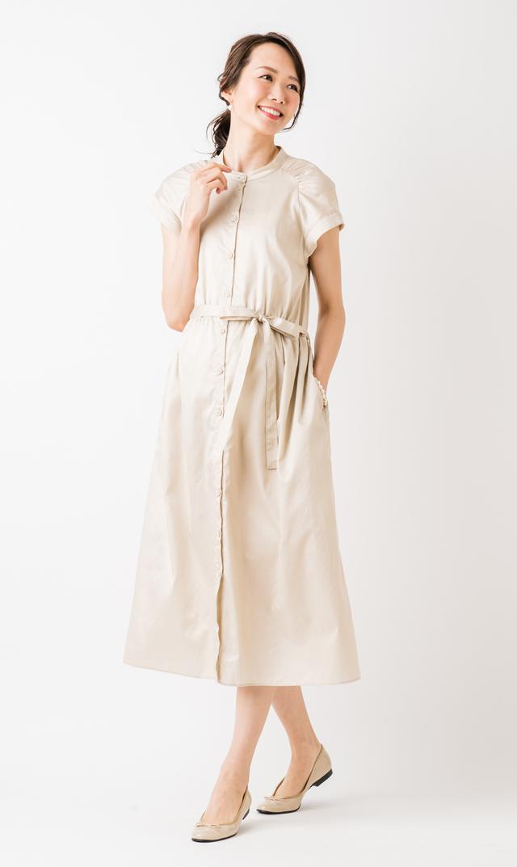 【ヴィリーナ(VIRINA)】アンジュナーシングドレス(アイスベージュ)