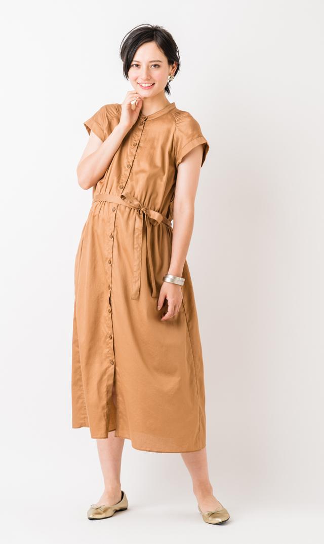 【ヴィリーナ(VIRINA)】アンジュナーシングドレス(キャメル)