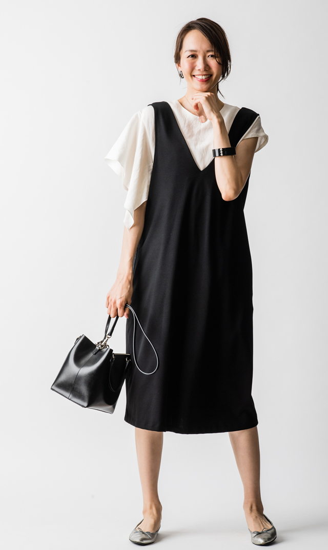 【ヴィリーナ(VIRINA)】アイナナーシングジャンパースカート(ブラック)