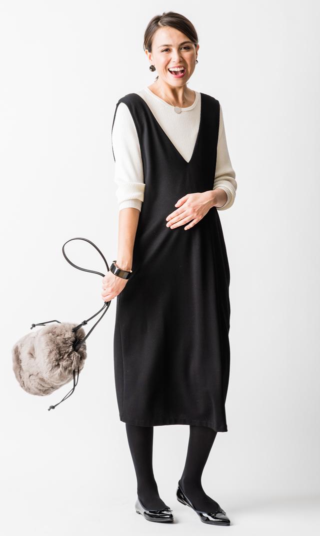 【ヴィリーナ(VIRINA)】アイナナーシングジャンパースカート(ブラック)※1/28再入荷予定