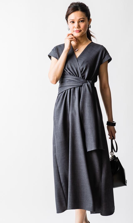【ヴィリーナ(VIRINA)】リズナーシングドレス(チャコールグレー)