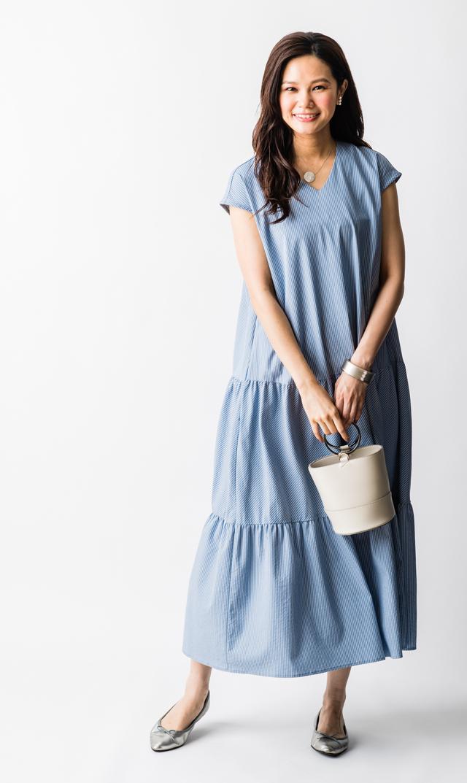【ヴィリーナ(VIRINA)】ニコルナーシングドレス(ブルー)