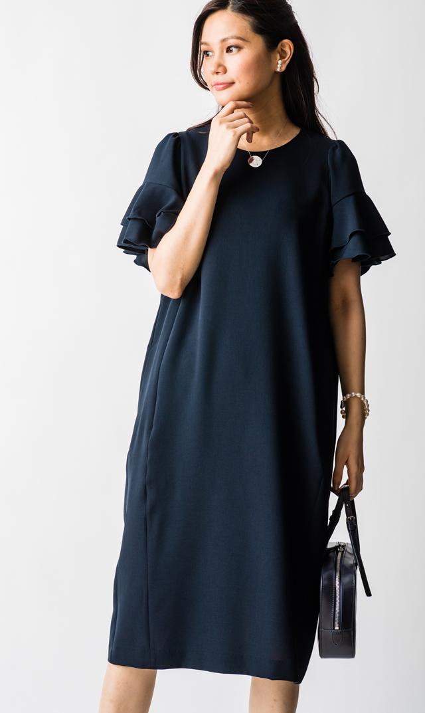 【ヴィリーナ(VIRINA)】エリーナーシングドレス(ネイビー)