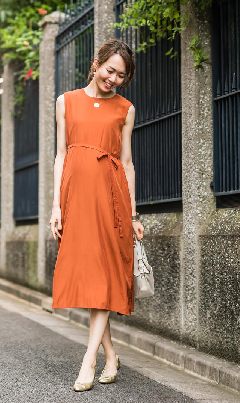 【ヴィリーナ(VIRINA)】ケイラナーシングドレス(テラコッタ)