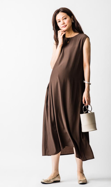 【ヴィリーナ(VIRINA)】ケイラナーシングドレス(ブラウン)