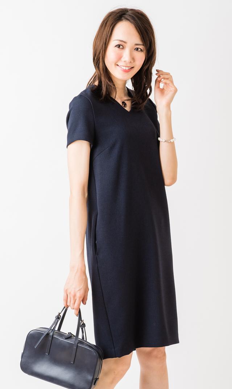 【ヴィリーナ(VIRINA)】Wアムンゼン/セーラノンマタニティセットアップドレス(ネイビー)
