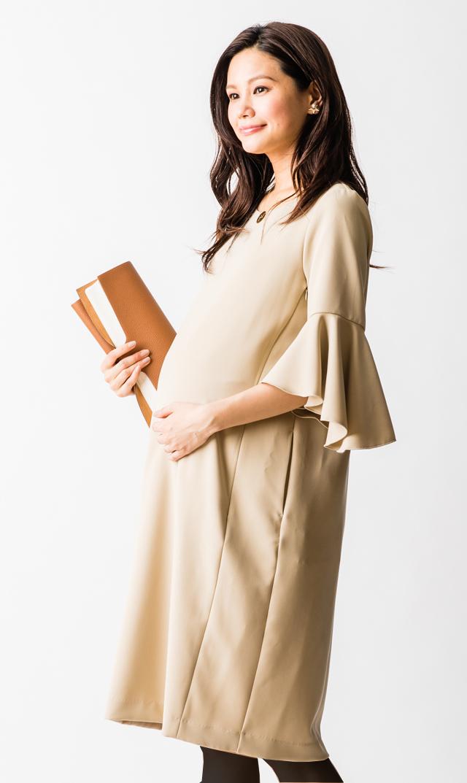 【ヴィリーナ(VIRINA)】メリンダナーシングドレス(ベージュ)