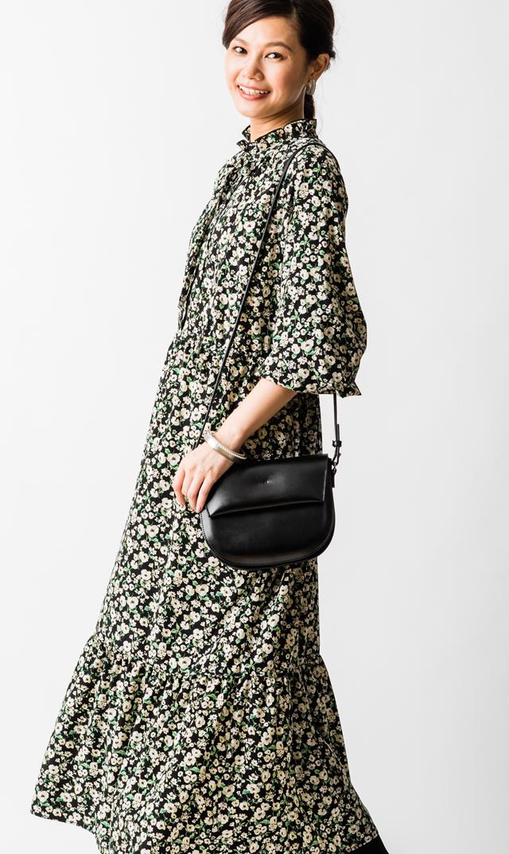 【ヴィリーナ(VIRINA)】ヴェロニカナーシングドレス(ブラック×アイボリー)