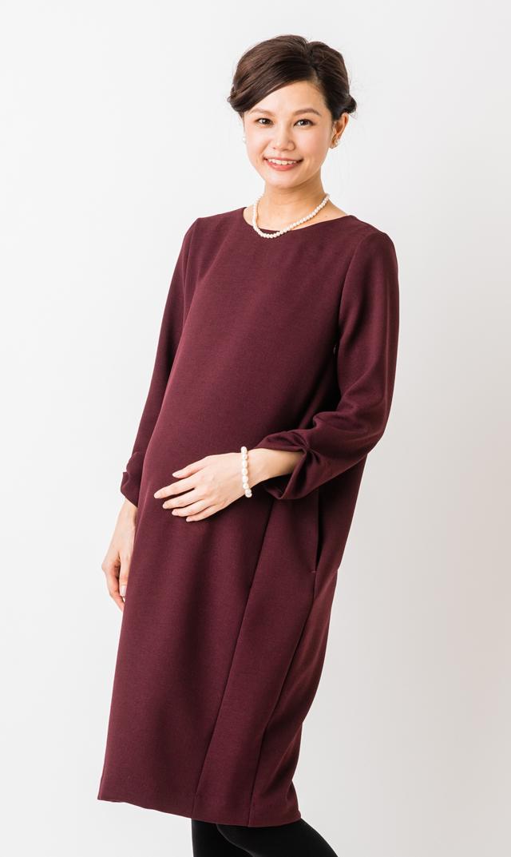 【ヴィリーナ(VIRINA)】シャロンナーシングドレス(ワイン)