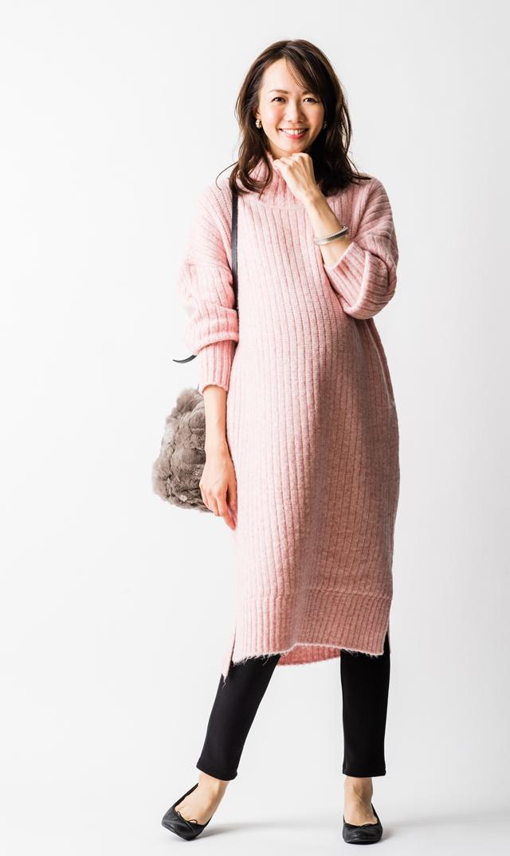 【ヴィリーナ(VIRINA)】アリスナーシングニットドレス(ピンク)
