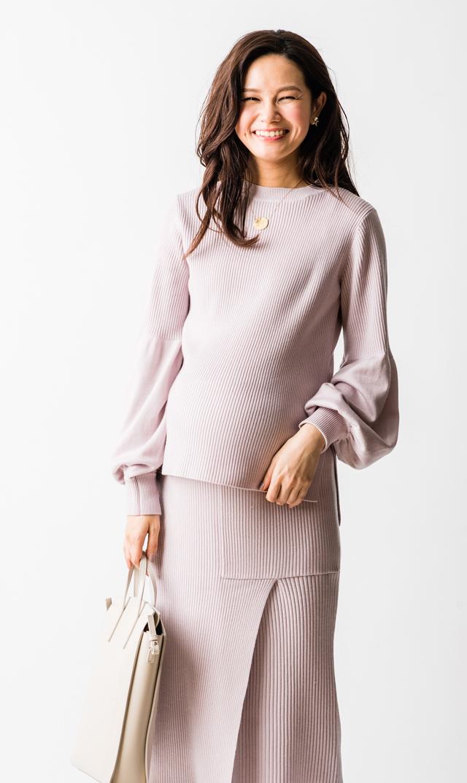 【ヴィリーナ】グレースナーシングセットアップドレス(ピンク)