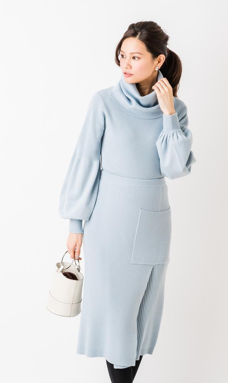 【ヴィリーナ(VIRINA)】グレースナーシングセットアップドレス(ブルー)