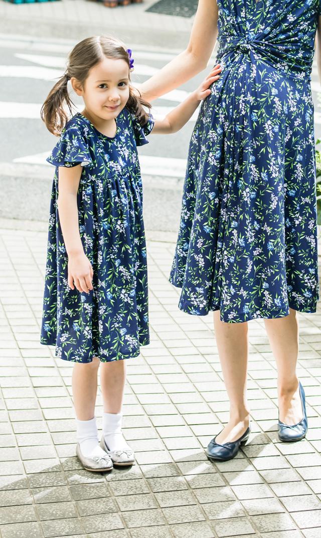 【ヴィリーナ(VIRINA)】メリルキッズドレス(ネイビーガーデン)