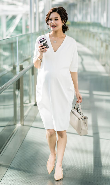 【ヴィリーナ(VIRINA)】レイシーナーシングドレス(ホワイト)